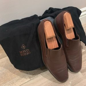 Monte Rosso Italian Leather Loafer; Brown Size 9M